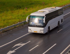 Bus on highway